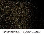 gold glitter texture isolated... | Shutterstock . vector #1205406280