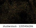 gold glitter texture isolated... | Shutterstock . vector #1205406286