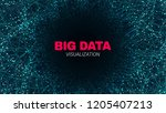 abstract poster with depth of... | Shutterstock .eps vector #1205407213