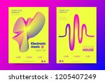 music abstract colorful poster. ... | Shutterstock .eps vector #1205407249
