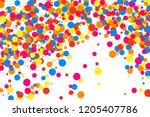 colorful explosion of confetti. ... | Shutterstock . vector #1205407786