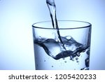 pour water into a glass | Shutterstock . vector #1205420233