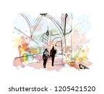building view with landmark of... | Shutterstock .eps vector #1205421520