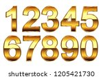 luxury golden numbers.vector... | Shutterstock .eps vector #1205421730
