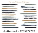 funky ink brush stroke stripes... | Shutterstock .eps vector #1205427769