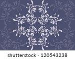 illustration of retro blue... | Shutterstock .eps vector #120543238