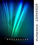 neon glowing wave  magic energy ... | Shutterstock .eps vector #1205435029