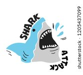 Shark Attack. Print With...