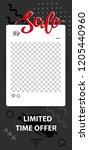 trendy editable template for... | Shutterstock .eps vector #1205440960