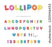 lollipop candy font design....   Shutterstock .eps vector #1205446453