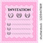 pink vintage invitation... | Shutterstock .eps vector #1205447809