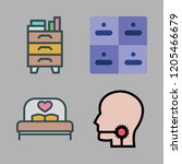 bedroom icon set. vector set... | Shutterstock .eps vector #1205466679