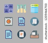 cabinet icon set. vector set... | Shutterstock .eps vector #1205466703