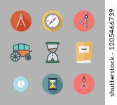 ancient icon set. vector set... | Shutterstock .eps vector #1205466739