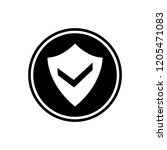 shield and check mark round... | Shutterstock .eps vector #1205471083