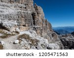 view of the mountain peaks...   Shutterstock . vector #1205471563