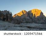 brenta dolomites in sunrise...   Shutterstock . vector #1205471566