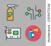 component icon set. vector set... | Shutterstock .eps vector #1205472136