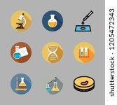 biochemistry icon set. vector... | Shutterstock .eps vector #1205472343