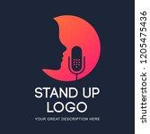 podcast radio icon illustration....   Shutterstock .eps vector #1205475436