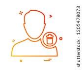avatar male icon design vector   Shutterstock .eps vector #1205478073