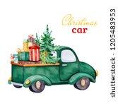 Christmas Abstract Retro Car...