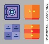 drawer icon set. vector set... | Shutterstock .eps vector #1205487829