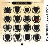shields and laurel wreath... | Shutterstock .eps vector #120549043
