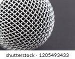 metal mesh on a musical vocal... | Shutterstock . vector #1205493433