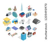 stock icons set. isometric set... | Shutterstock .eps vector #1205493970