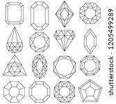 jewels set  gems and diamonds ... | Shutterstock .eps vector #1205499289