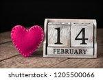 wooden calendar show of...   Shutterstock . vector #1205500066