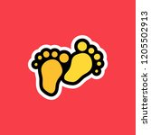 cartoon sticker with two steps...   Shutterstock .eps vector #1205502913