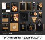 realistic brand identity set of ... | Shutterstock .eps vector #1205505340