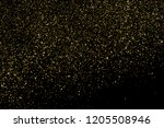 gold glitter texture isolated... | Shutterstock . vector #1205508946