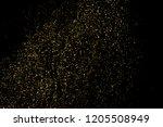 gold glitter texture isolated... | Shutterstock . vector #1205508949