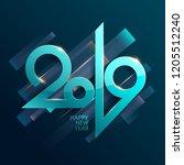 new year 2019. lettering design. | Shutterstock .eps vector #1205512240