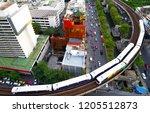 aerial view bangkok modern city ... | Shutterstock . vector #1205512873