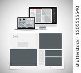business magazine  brochure... | Shutterstock .eps vector #1205515540