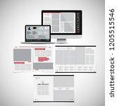business magazine  brochure...   Shutterstock .eps vector #1205515546
