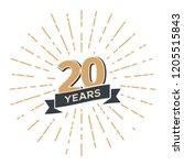 20 th anniversary retro vector...   Shutterstock .eps vector #1205515843