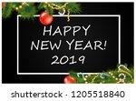 happy new year 2019 | Shutterstock . vector #1205518840