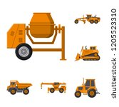 isolated object of build and...   Shutterstock .eps vector #1205523310