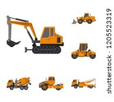 isolated object of build and...   Shutterstock .eps vector #1205523319