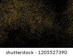 gold glitter texture isolated... | Shutterstock . vector #1205527390