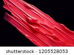 lipstic smudge black isolated... | Shutterstock . vector #1205528053