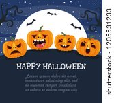 vector illustration of halloween | Shutterstock .eps vector #1205531233