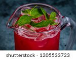 homemade cold lemonade with mint | Shutterstock . vector #1205533723