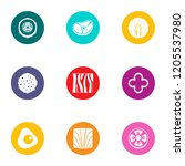 shish kebab icons set. flat set ... | Shutterstock .eps vector #1205537980