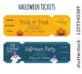 vintage halloween party... | Shutterstock .eps vector #1205540389